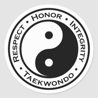 Respect Honor Integrity Taekwondo Round Sticker