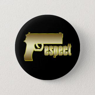 Respect in Gold 6 Cm Round Badge