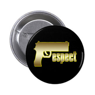 Respect in Gold 6 Cm Round Badge