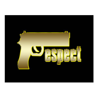 Respect in Gold Postcard