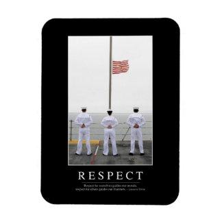 Respect: Inspirational Quote 1 Rectangular Photo Magnet