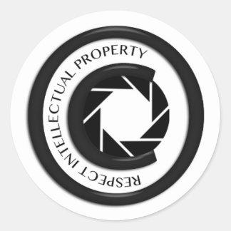 Respect Intellectual Property Classic Round Sticker