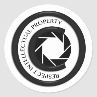 Respect Intellectual Property Round Sticker