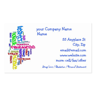 Respect, Kindness, Trust... Virtues word art Pack Of Standard Business Cards