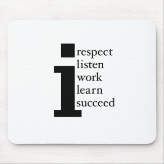 Respect Learn Succeed Listen Work Mouse Pad