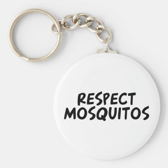 Respect Mosquitos Basic Round Button Key Ring
