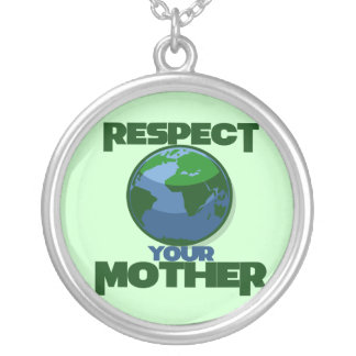 Respect Mother Eath Round Pendant Necklace