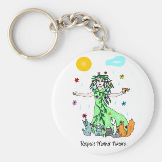 Respect Mother Nature Key Ring