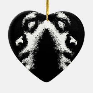 Respect My Life Peace Love Ceramic Heart Decoration