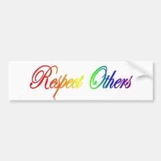 Respect Others Bumper Sticker