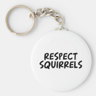 Respect Squirrels Basic Round Button Key Ring