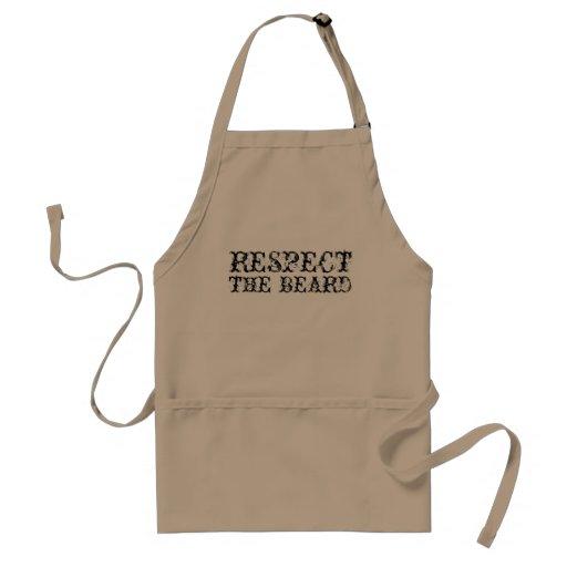 Respect the beard apron for men | Beige