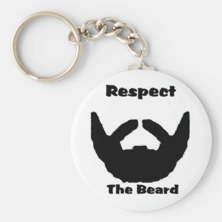 respect the beard basic round button key ring