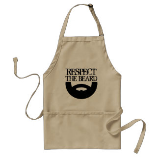 Respect the beard BBQ apron for men | Khaki beige