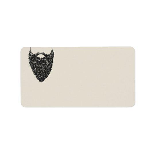 Respect The Beard    Blank Return Address Label