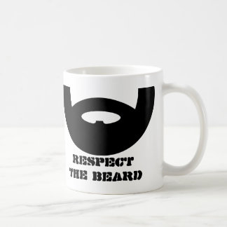 Respect the beard coffee mug for manly men