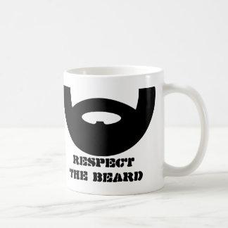 Respect the beard coffee mug for manly men