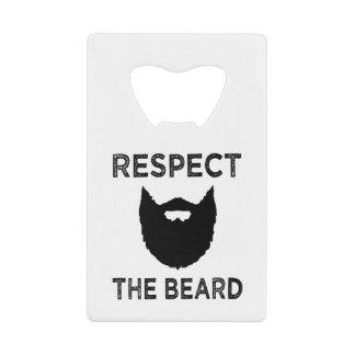 Respect the Beard funny bottle opener