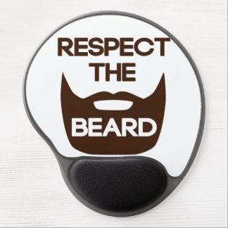 Respect The Beard Gel Mouse Mat