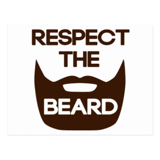 Respect The Beard Post Cards