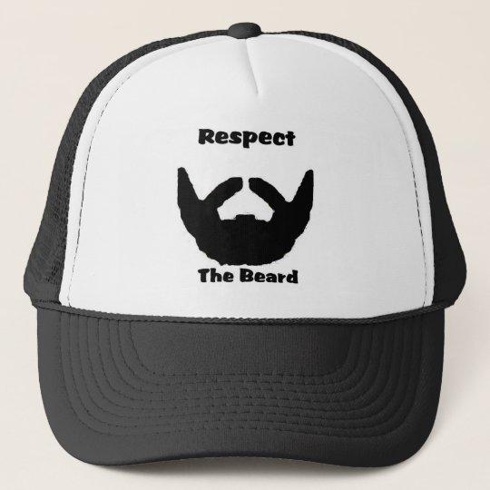 respect the beard trucker hat