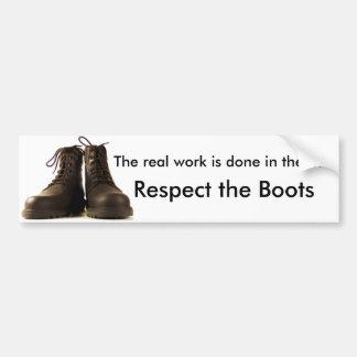 Respect the Boots Bumper Sticker