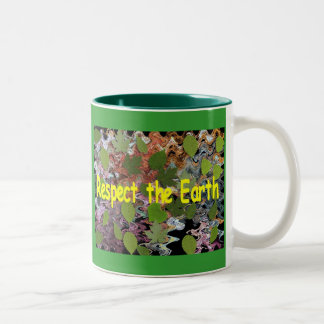 Respect the Earth Two-Tone Coffee Mug