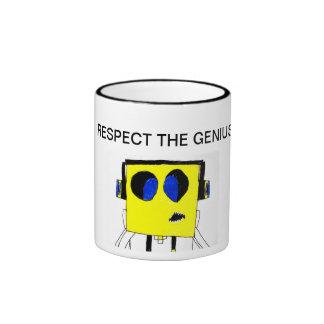 Respect the Genius Mug - Cool Boy Cartoon Funny