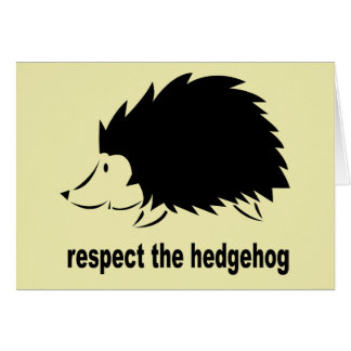 Respect The Hedgehog Card
