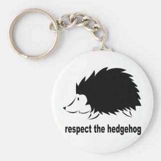 Respect The Hedgehog Key Ring