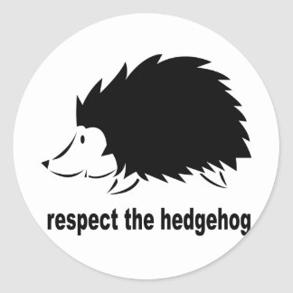 Respect The Hedgehog Round Sticker