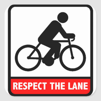 Respect the Lane Sticker