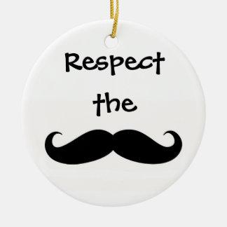 Respect the Mustache Ornament