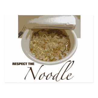 Respect the Noodle Postcard