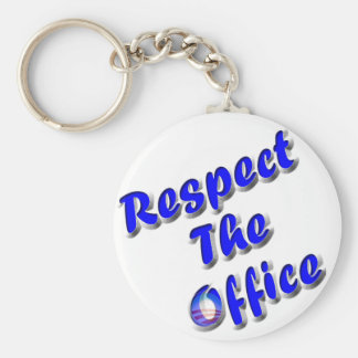 Respect The Office Basic Round Button Key Ring