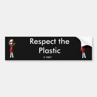 Respect the Plastic Bumper Sticker Car Bumper Sticker