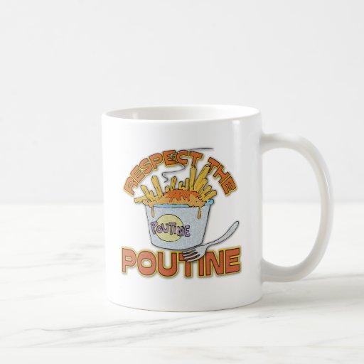 Respect The Poutine Basic White Mug