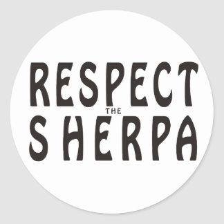 Respect The Sherpa Classic Round Sticker