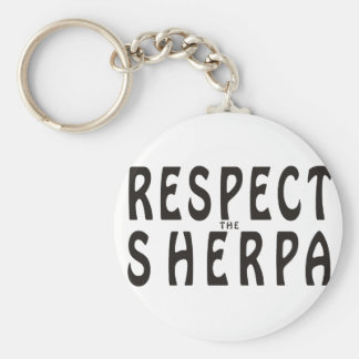Respect The Sherpa Key Ring