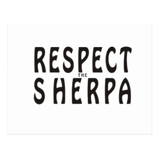 """Respect the Sherpa"" Mountaineering Postcard"