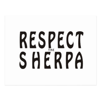Respect The Sherpa Postcard