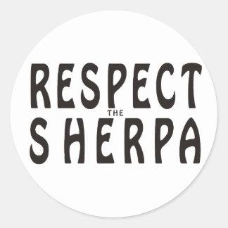 Respect The Sherpa Round Sticker