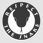 "Respect The Snake 3"" Stickers"