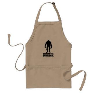 Respect the Squatch   Bigfoot Sasquatch Apron