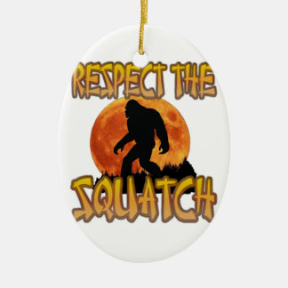 Respect The Squatch Ceramic Oval Decoration