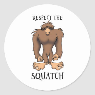 RESPECT THE SQUATCH CLASSIC ROUND STICKER