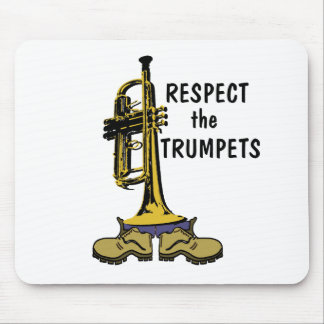 Respect the Trumpets Mouse Mat