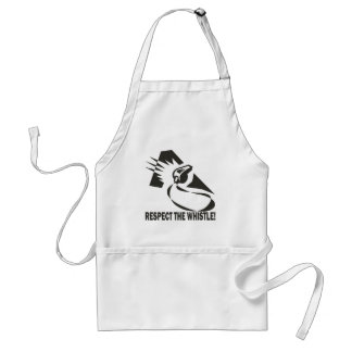 Respect The Whistle Adult Apron