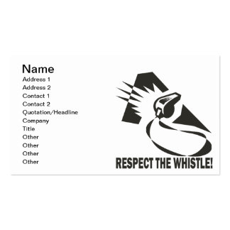Respect The Whistle Pack Of Standard Business Cards