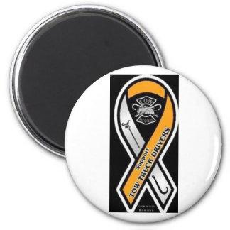 Respect Tow Truck Operators 6 Cm Round Magnet